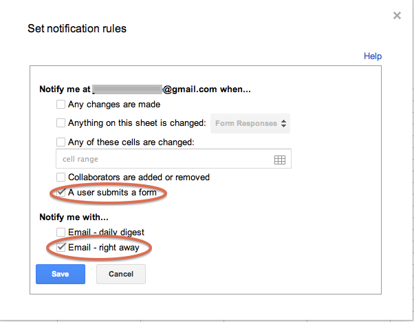 Get notified of Google Form responses by email