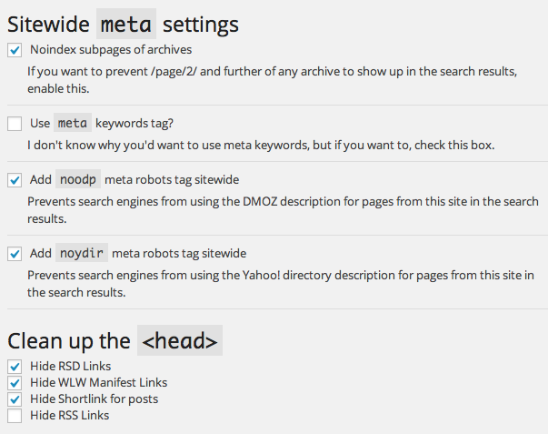 WordPress SEO by Yoast screenshot