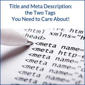 Title and Meta Description Tags