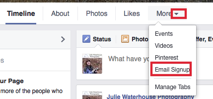 Facebook Tab Configuration Step 1
