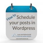 Schedule WordPress blog posts
