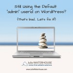How to change the default WordPress admin account