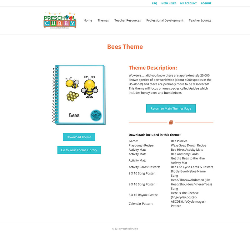 Preschool Plan It Course