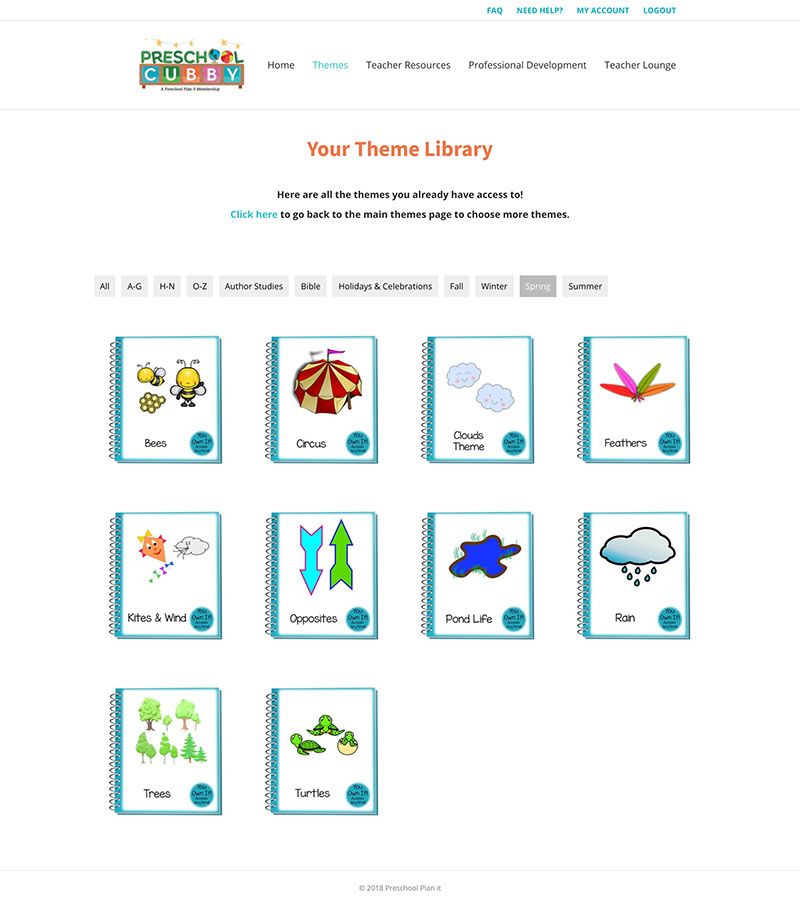Preschool Plan It Library