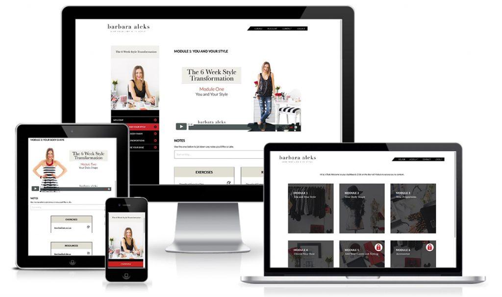 Images of website portfolio